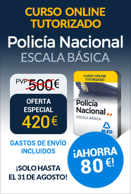 Curso online tutorizado Policía Nacional Escala Básica 2017