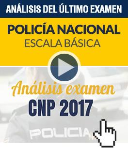 Análisis del último examen de Policía Nacional EB