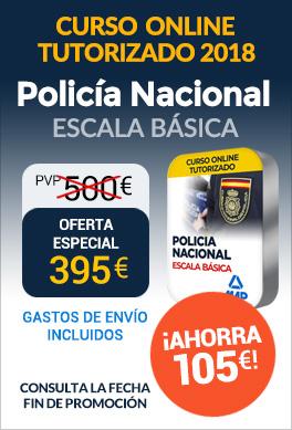 Curso online tutorizado Policía Nacional Escala Básica 2018