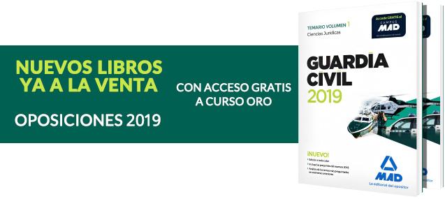 temarios Guardia Civil - Oposiciones 2019