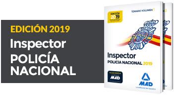 Nuevos libros Inspector Policía Nacional 2019