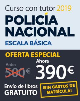 Curso con tutor Policía Nacional Escala Básica 2019