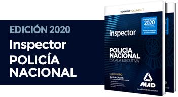 Nuevos libros Inspector Policía Nacional 2020